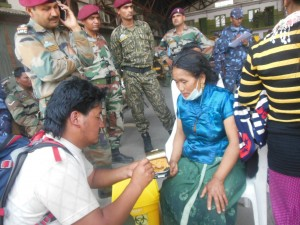 JHF Kalyan  feeding the wounded